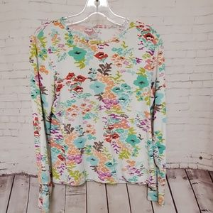 Land's End Long Sleeve floral top #377